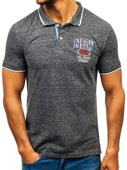 Мужская футболка поло черная Bolf 19240
