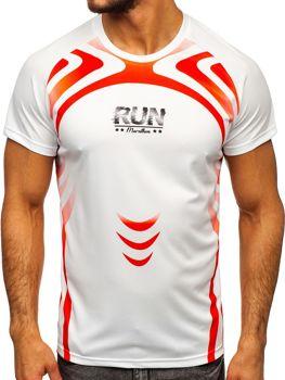 Мужская футболка с принтом белая Bolf KS2062