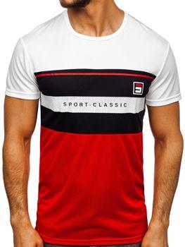 Мужская футболка с принтом белая Bolf SS10995
