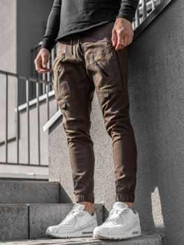 Мужские брюки джоггеры коричневые Bolf 0956