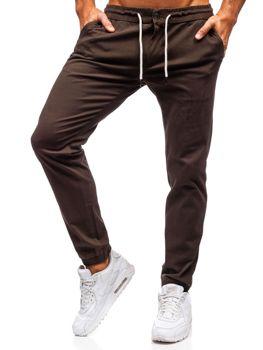 Мужские брюки-джоггеры коричневые Bolf 1121