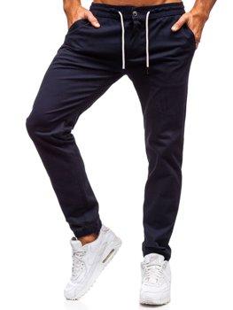 Мужские брюки джоггеры темно-синие Bolf 1121