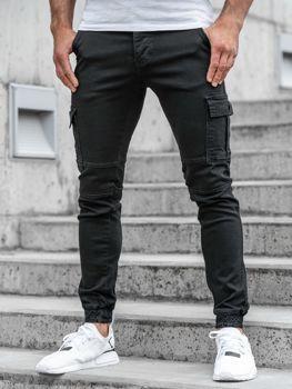 Мужские брюки джоггеры черные Bolf 2039