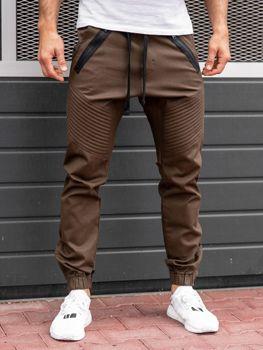 Мужские брюки джогеры коричневые Bolf 0952