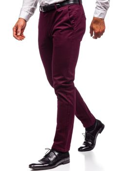 Мужские брюки чинос бордовые Bolf 1120