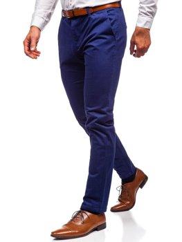 Мужские брюки чинос кобальтовые Bolf 1120