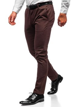 Мужские брюки чинос коричневые Bolf 1120