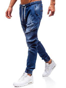 Мужские джинсовые брюки джоггеры синие Bolf2048