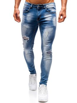 Мужские джинсовые брюки синие Bolf 3950
