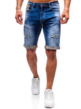 Мужские джинсовые шорты синие Bolf T399