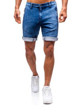 Мужские джинсовые шорты темно-синие Bolf HY347