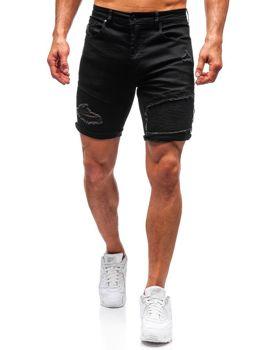 Мужские джинсовые шорты черные Bolf T390