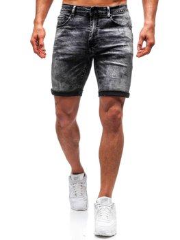 Мужские джинсовые шорты черные Bolf T571