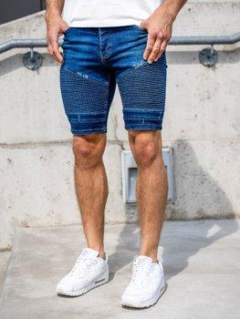 Мужские джинсовы шорты темно-синие Bolf 1058