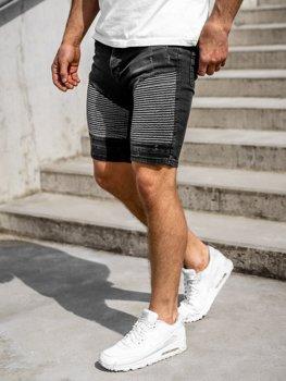 Мужские джинсовы шорты черные Bolf 1058