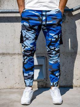 Мужские джоггеры карго синие Bolf 0705