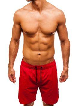 Мужские пляжные шорты красные Bolf 82243