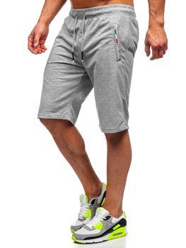 Мужские серые спортивные шорты Bolf JX369