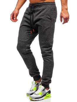 Мужские спортивные брюки антрацитово-оранжевые Bolf Q3778