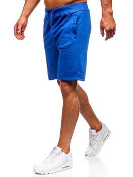 Мужские спортивные шорты васильковые Bolf AA10-A