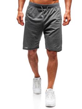 Мужские спортивные шорты графитовые Bolf DK01