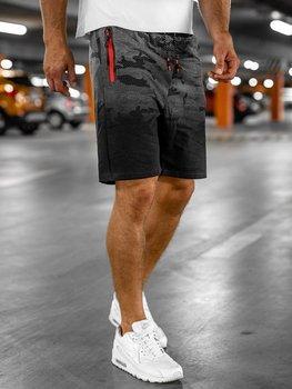 Мужские спортивные шорты графитовые Bolf KK213