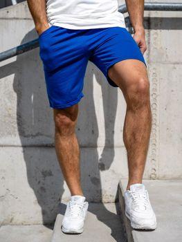 Мужские спортивные шорты кобальтовые Bolf KK301