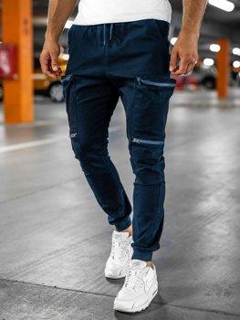 Мужские темно-синие брюки джоггеры-карго Bolf 0475