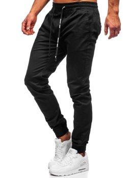 Мужские черные брюки джоггеры Bolf KA951