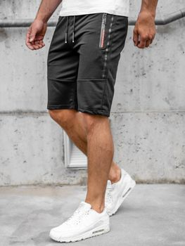 Мужские черные спортивные шорты Bolf JX366