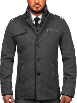 Мужское пальто серое Bolf 8856