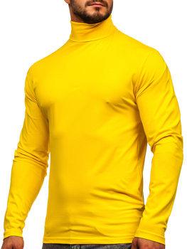Мужской гольф без принта желтый Bolf S6963