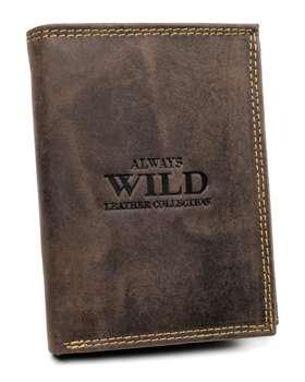 Мужской кожаный кошелек коричневый 7927