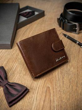 Мужской кошелек кожаный коричневый 1679