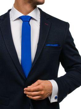 Мужской набор галстук, запонки, пашетка синий Bolf KSP01