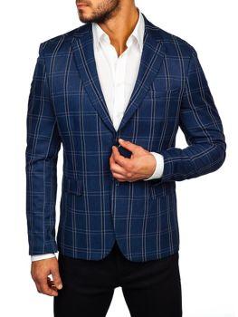 Мужской пиджак темно-синяя Bolf 1666