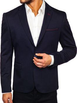 Мужской пиджак темно-синяя Bolf RBR406