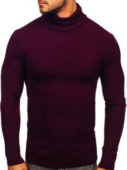 Мужской свитер гольф бордовый Bolf 322