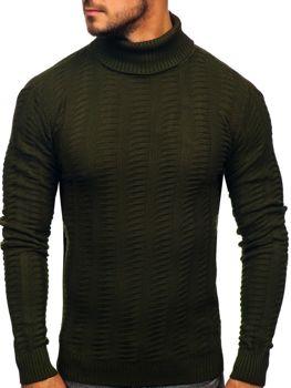 Мужской свитер гольф зеленый Bolf 314