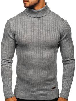 Мужской свитер гольф серый Bolf 3070
