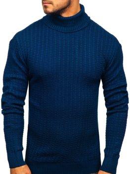 Мужской свитер гольф синий Bolf 315