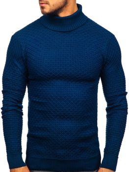 Мужской свитер гольф синий Bolf 322