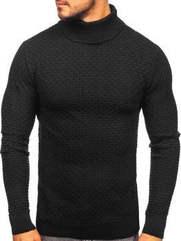 Мужской свитер гольф черный Bolf 322