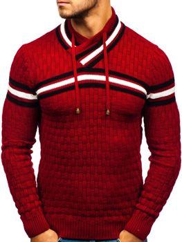 Мужской свитер красный Bolf 6006