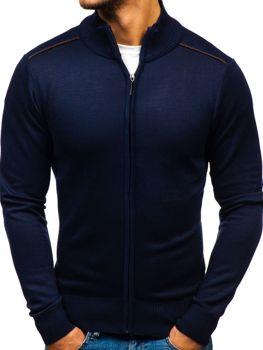 Мужской свитер на застежке чернильный Bolf BM6077