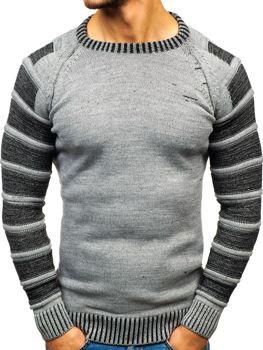 Мужской свитер серый Bolf 6007