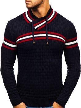 Мужской свитер темно-синий Bolf 6006