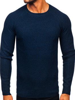 Мужской свитер темно-синий Bolf H1810
