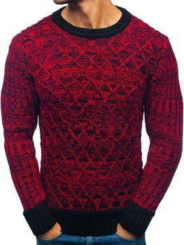 Мужской свитер черно-красный Bolf 197
