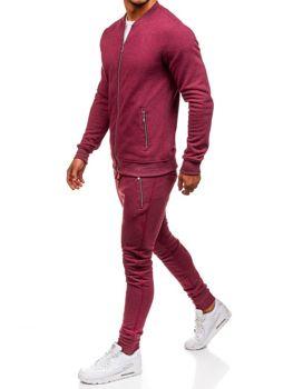 Мужской спортивный костюм бордовый Bolf 43S